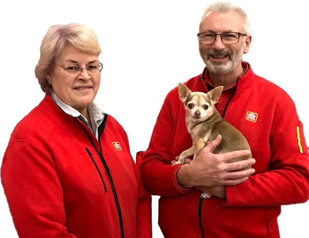 Home Hardware Employees with a Dog